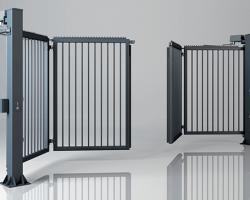 Brama składana dwuskrzydłowa V-KING – wypełnienie palisadowe 25×25 mm