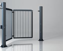Brama składana jednoskrzydłowa V-KING – wypełnienie palisadowe 25×25 mm